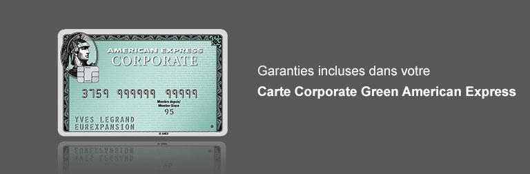 Garanties Carte Corporate Green American Express