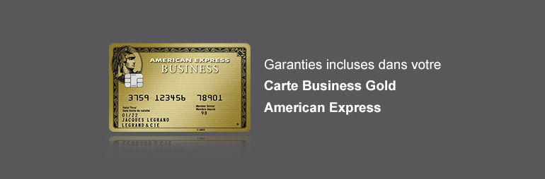Garanties incluses dans la Carte Business Gold