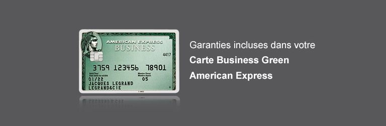 Garanties incluses dans la Carte Business Green