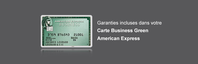 Garanties incluses dans la Carte Business Green