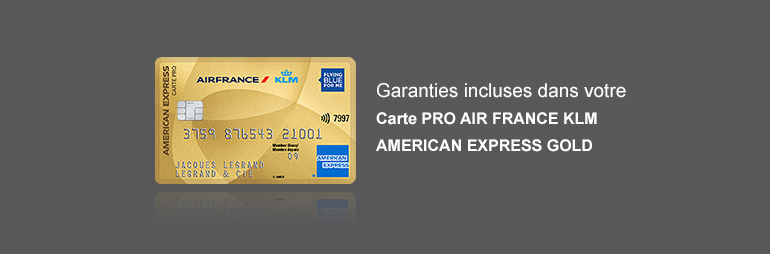 assurances carte pro air france klm american express gold